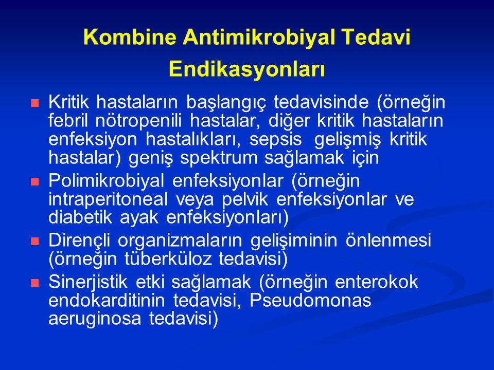 Kombine Antimikrobiyal Tedavi Endikasyonları