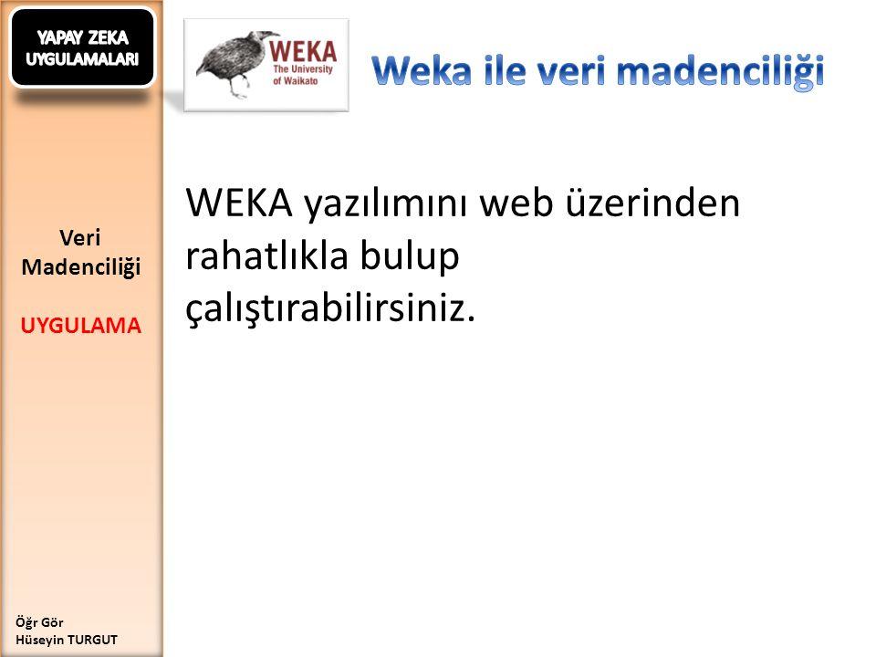 Weka ile veri madenciliği