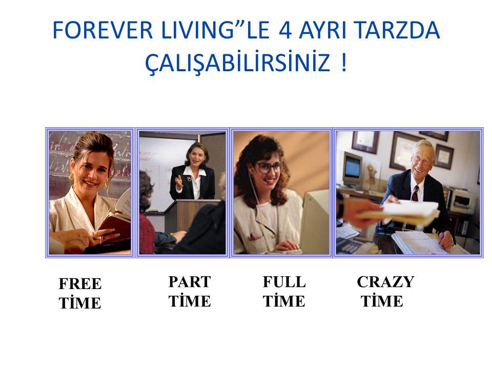 FOREVER LIVING LE 4 AYRI TARZDA ÇALIŞABİLİRSİNİZ !