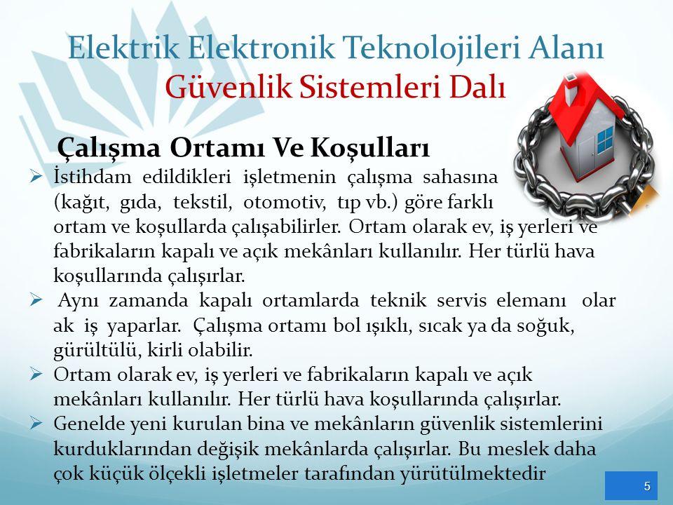 Elektrik Elektronik Teknolojileri Alanı Güvenlik Sistemleri Dalı