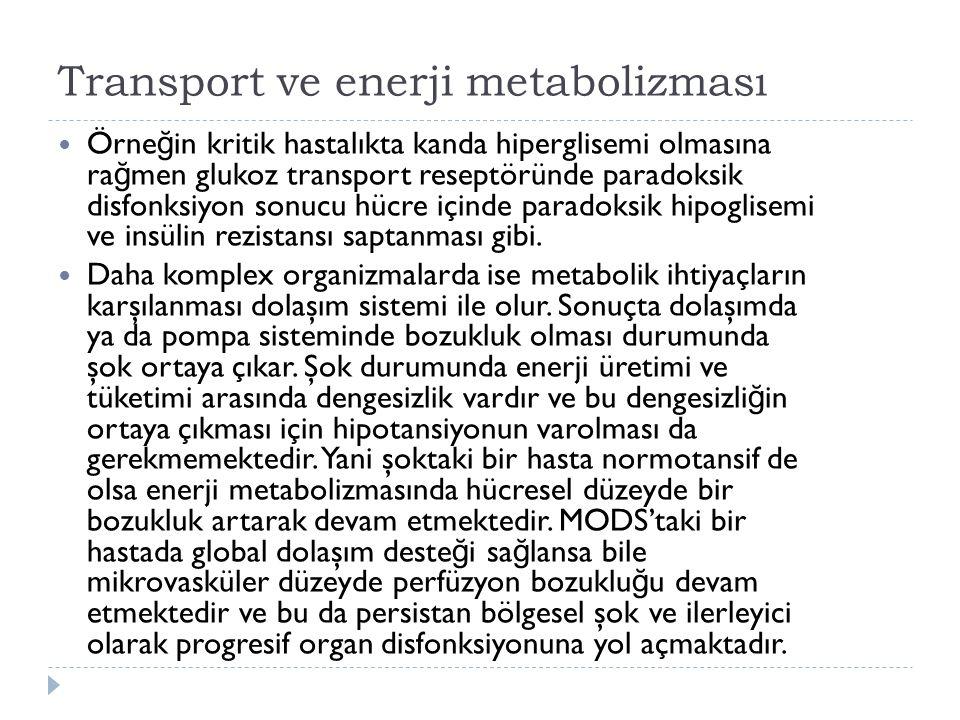 Transport ve enerji metabolizması
