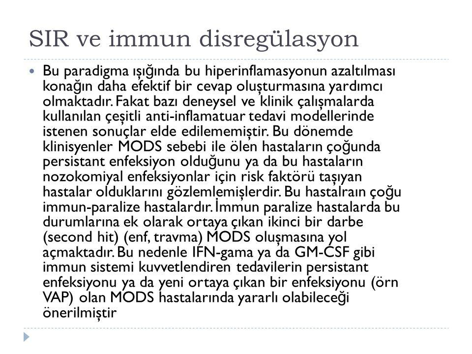 SIR ve immun disregülasyon