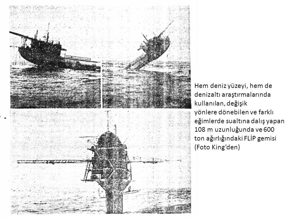 Hem deniz yüzeyi, hem de denizaltı araştırmalarında kullanılan, değişik