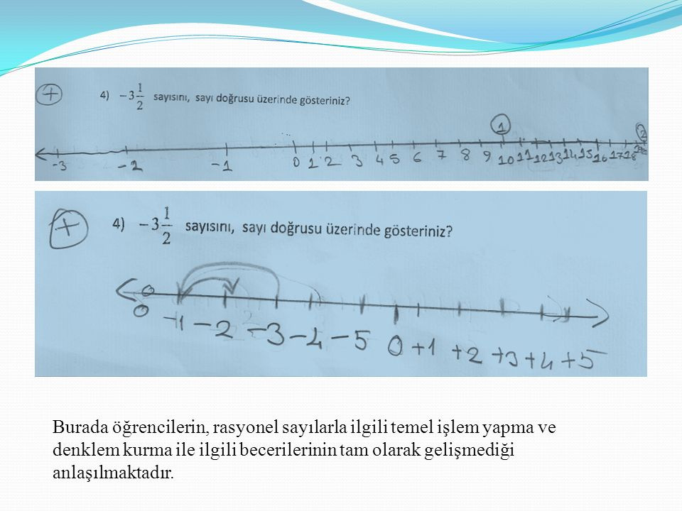 Burada öğrencilerin, rasyonel sayılarla ilgili temel işlem yapma ve
