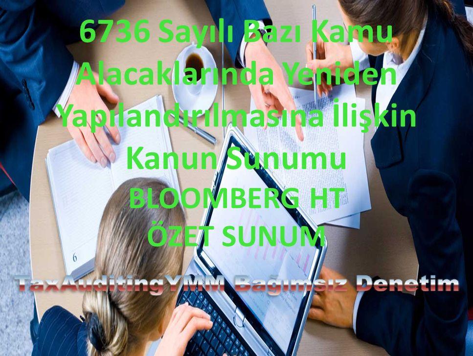 6736 Sayılı Bazı Kamu Alacaklarında Yeniden Yapılandırılmasına İlişkin Kanun Sunumu BLOOMBERG HT ÖZET SUNUM
