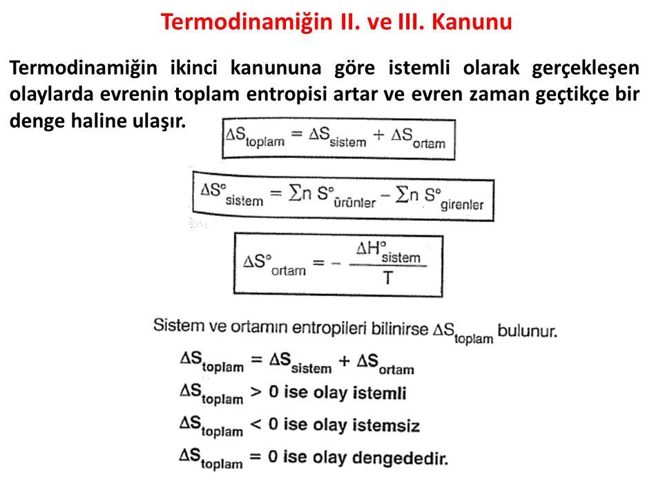 Termodinamiğin II. ve III. Kanunu