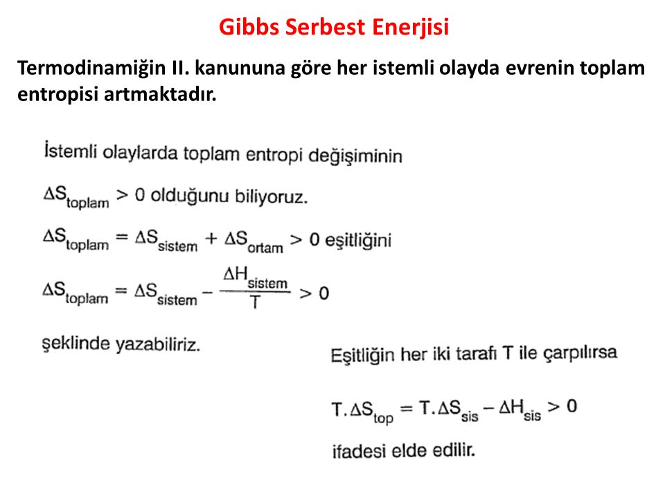Gibbs Serbest Enerjisi