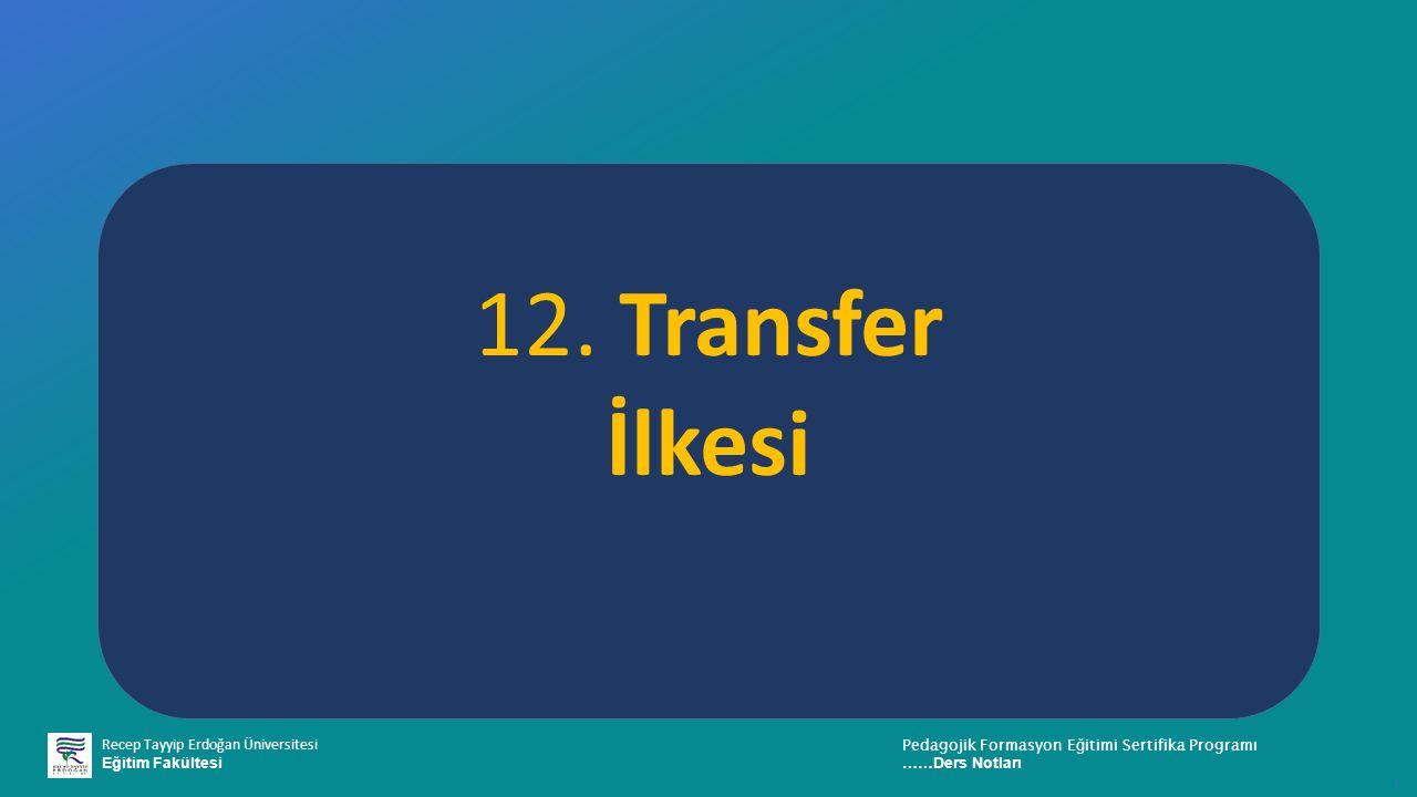 12. Transfer İlkesi