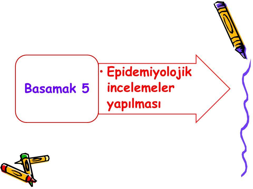 Basamak 5 Epidemiyolojik incelemeler yapılması