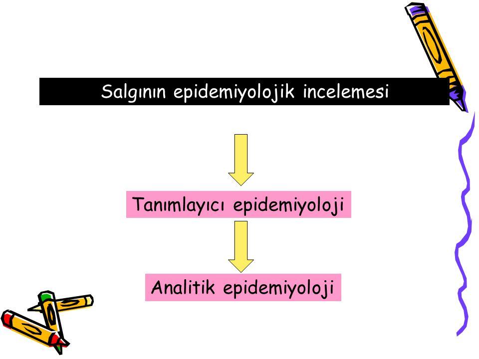 Salgının epidemiyolojik incelemesi