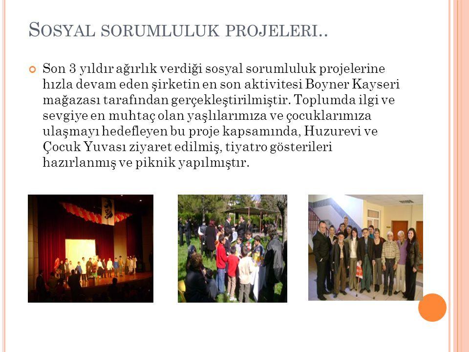 Sosyal sorumluluk projeleri..