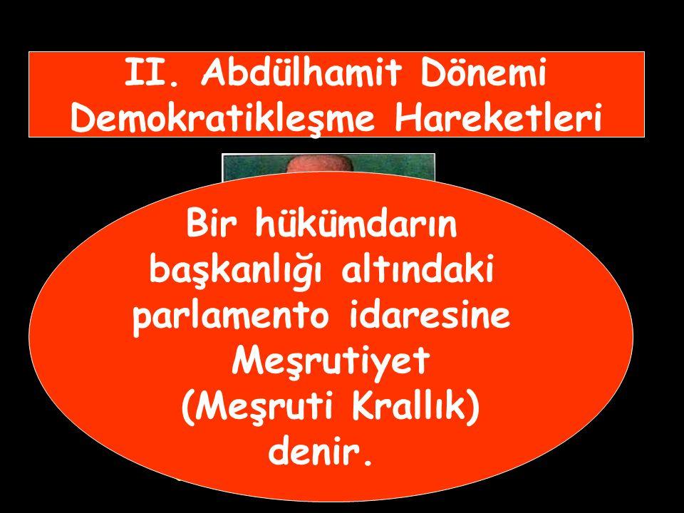 II. Abdülhamit Dönemi Demokratikleşme Hareketleri