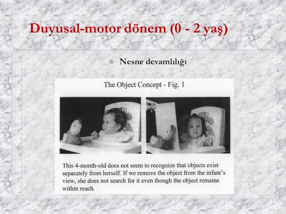 Duyusal-motor dönem (0 - 2 yaş)