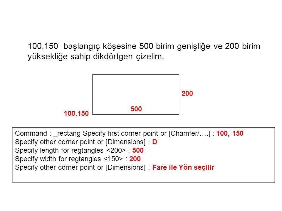 100,150 başlangıç köşesine 500 birim genişliğe ve 200 birim yüksekliğe sahip dikdörtgen çizelim.