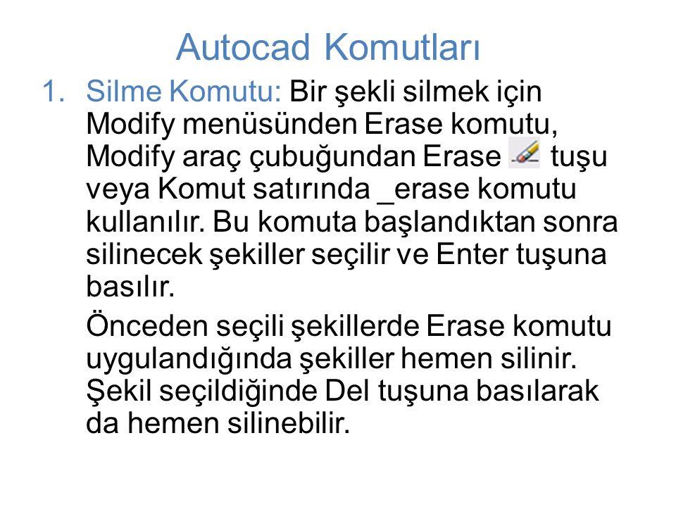 Autocad Komutları