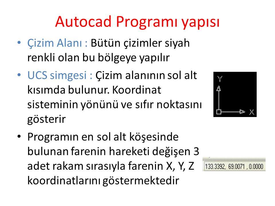 Autocad Programı yapısı