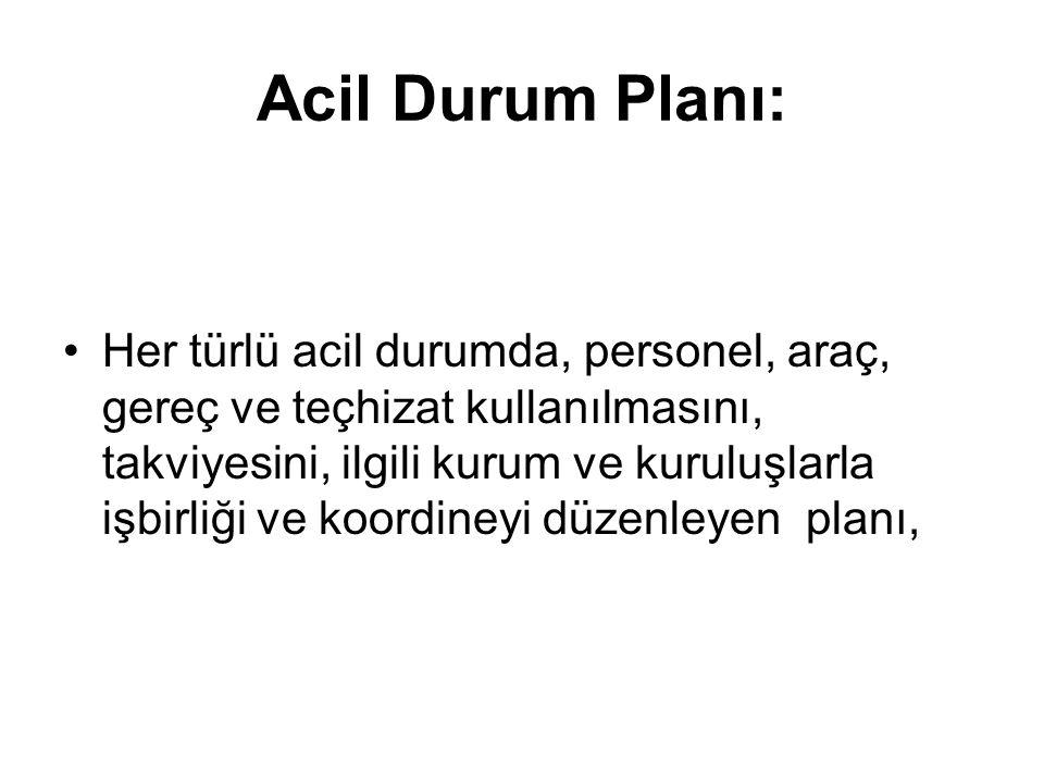 Acil Durum Planı: