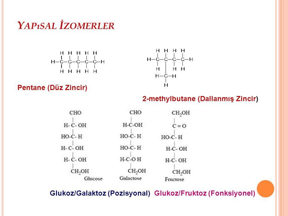Glukoz/Galaktoz (Pozisyonal) Glukoz/Fruktoz (Fonksiyonel)