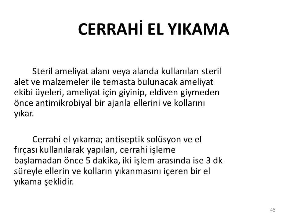 CERRAHİ EL YIKAMA