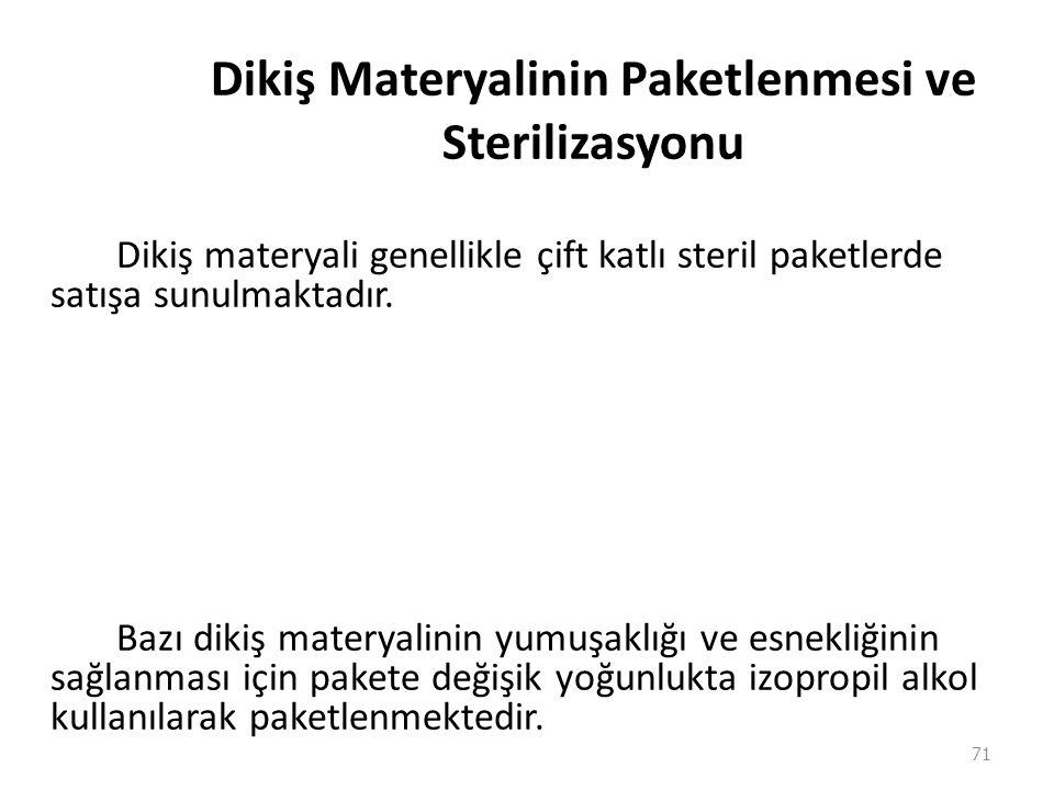 Dikiş Materyalinin Paketlenmesi ve Sterilizasyonu