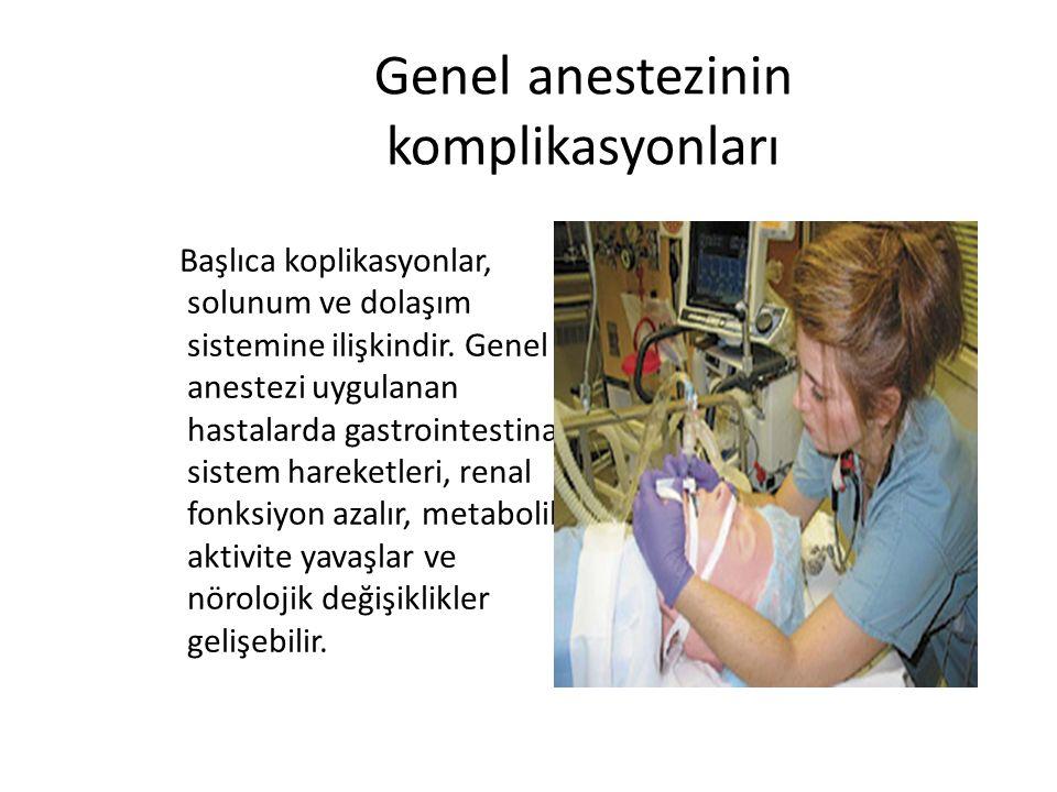 Genel anestezinin komplikasyonları