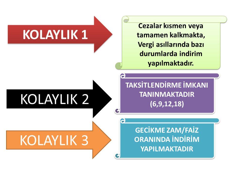 KOLAYLIK 2 KOLAYLIK 3 KOLAYLIK 1