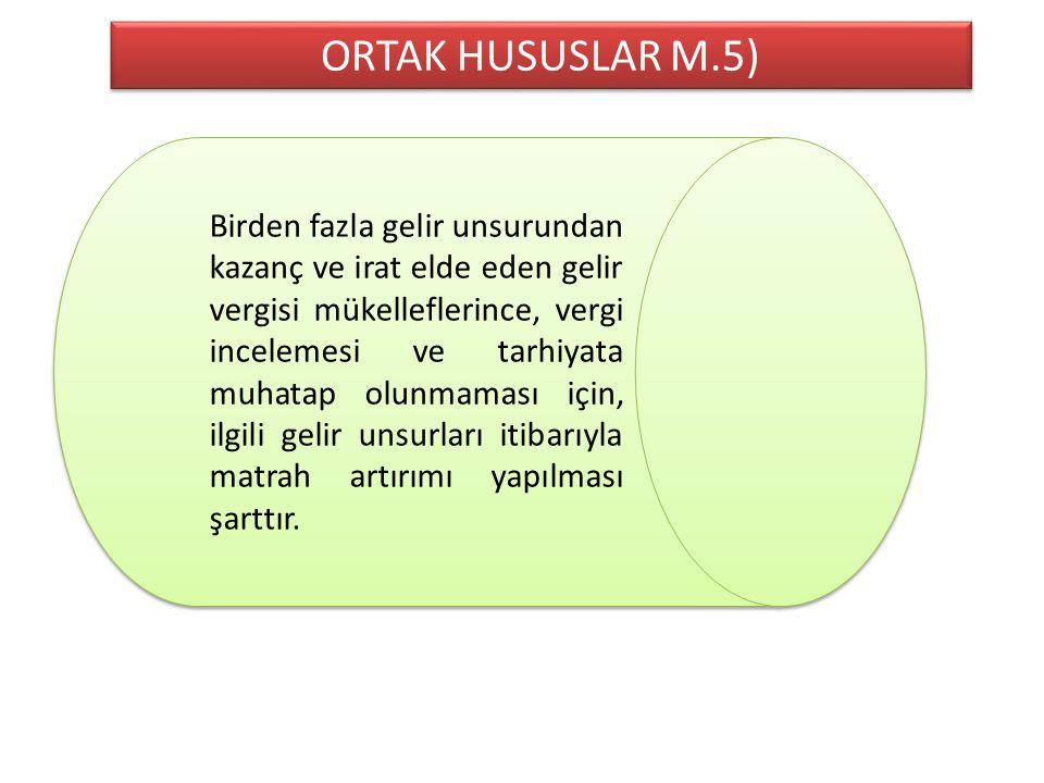 ORTAK HUSUSLAR M.5)