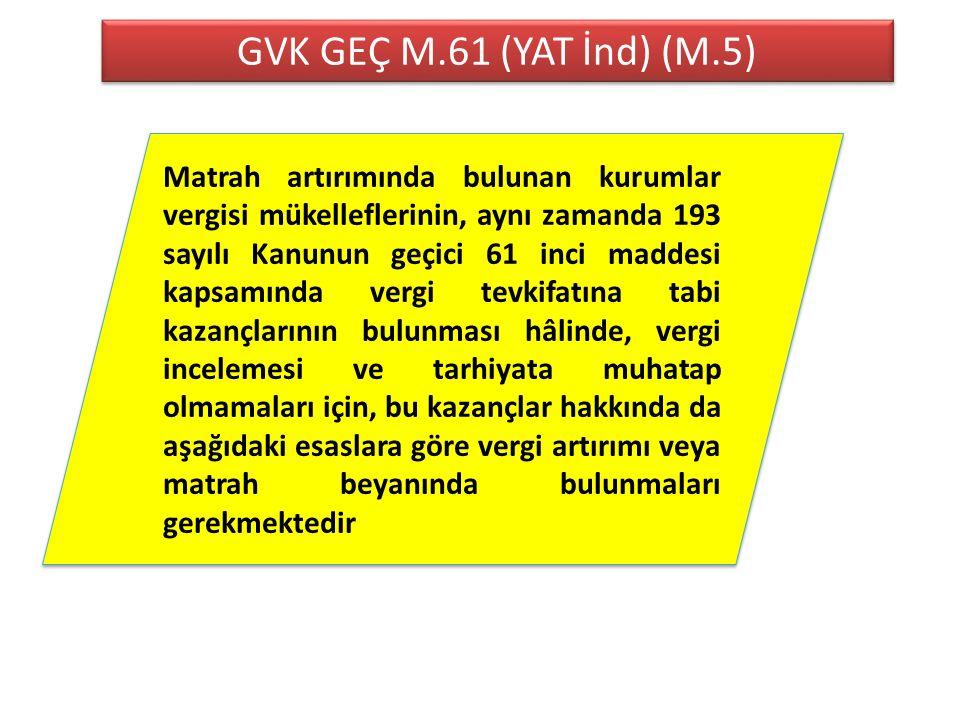 GVK GEÇ M.61 (YAT İnd) (M.5)
