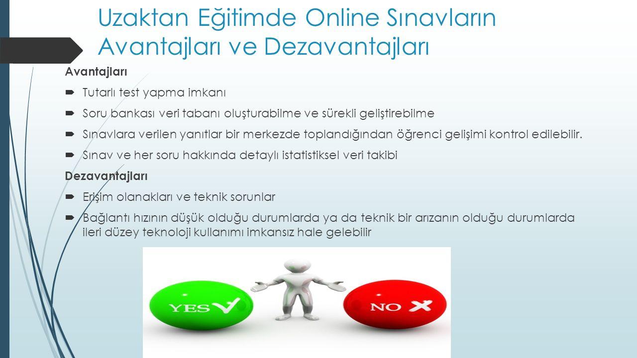 Uzaktan Eğitimde Online Sınavların Avantajları ve Dezavantajları