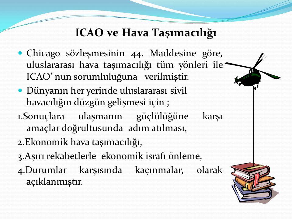 ICAO ve Hava Taşımacılığı