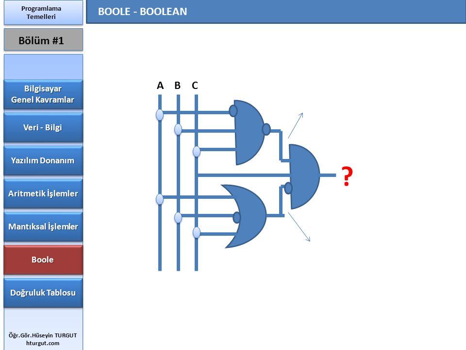 BOOLE - BOOLEAN Bölüm #1 A B C Bilgisayar Genel Kavramlar