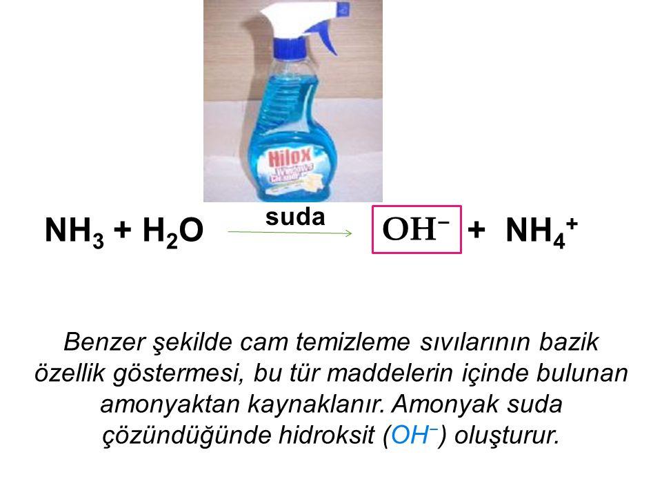 suda NH3 + H2O. OH− + NH4+