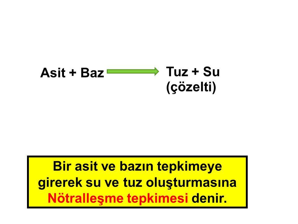 Asit + Baz Tuz + Su.