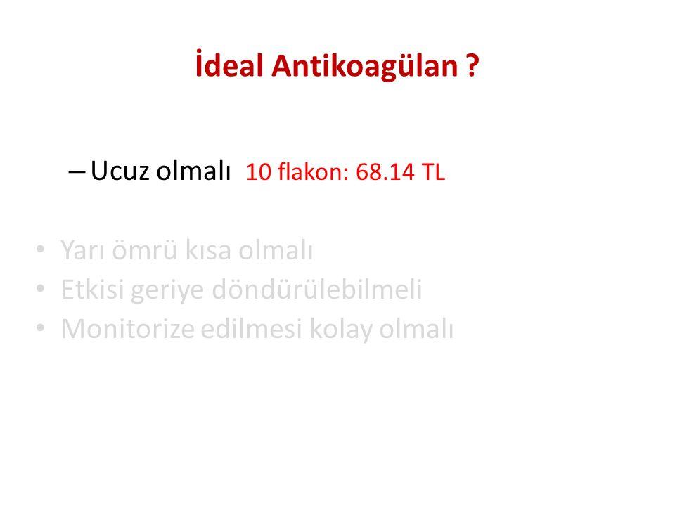 İdeal Antikoagülan Ucuz olmalı 10 flakon: 68.14 TL