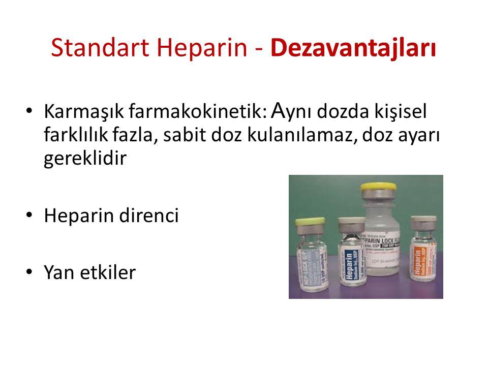 Standart Heparin - Dezavantajları