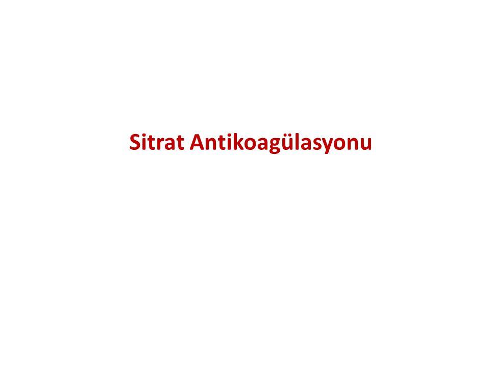 Sitrat Antikoagülasyonu