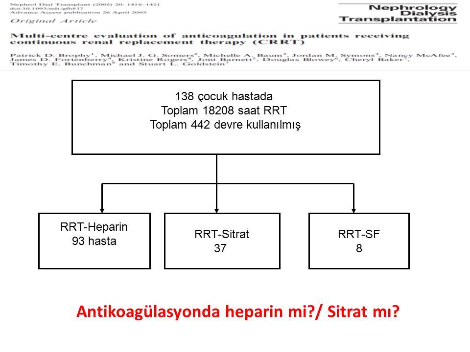 Antikoagülasyonda heparin mi / Sitrat mı