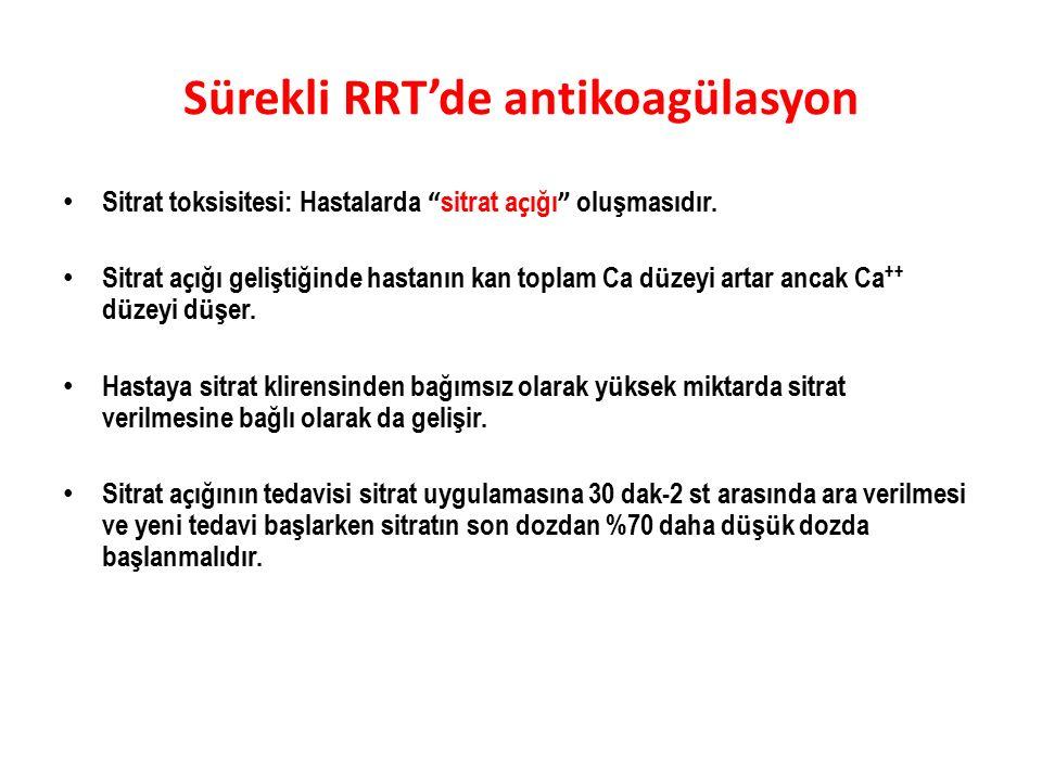 Sürekli RRT'de antikoagülasyon