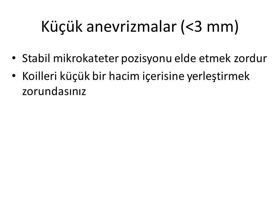 Küçük anevrizmalar (<3 mm)