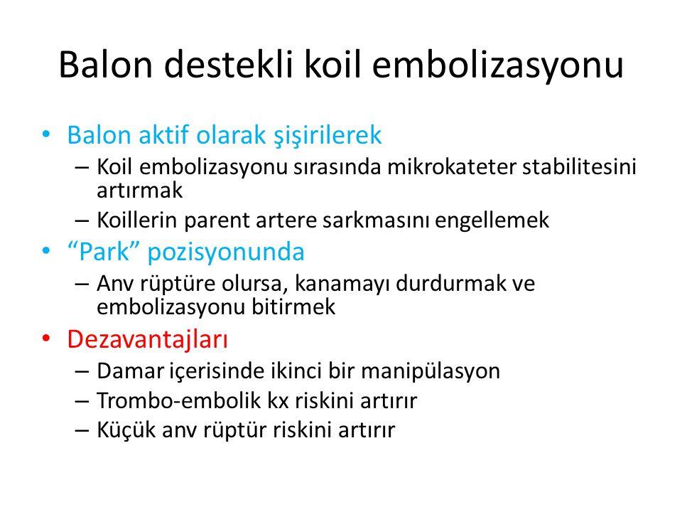 Balon destekli koil embolizasyonu