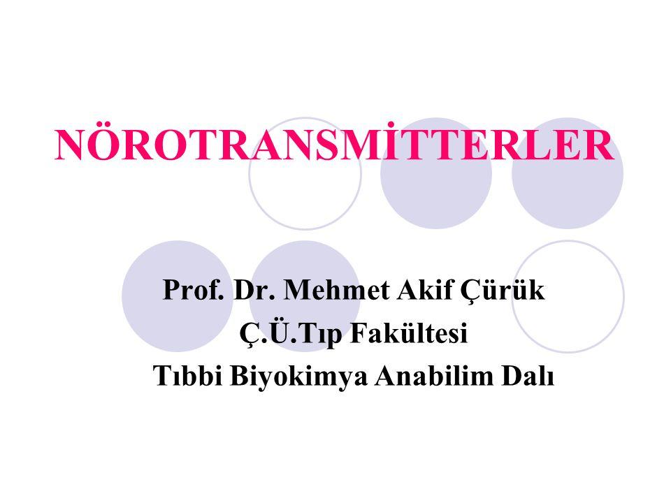 Prof. Dr. Mehmet Akif Çürük Tıbbi Biyokimya Anabilim Dalı