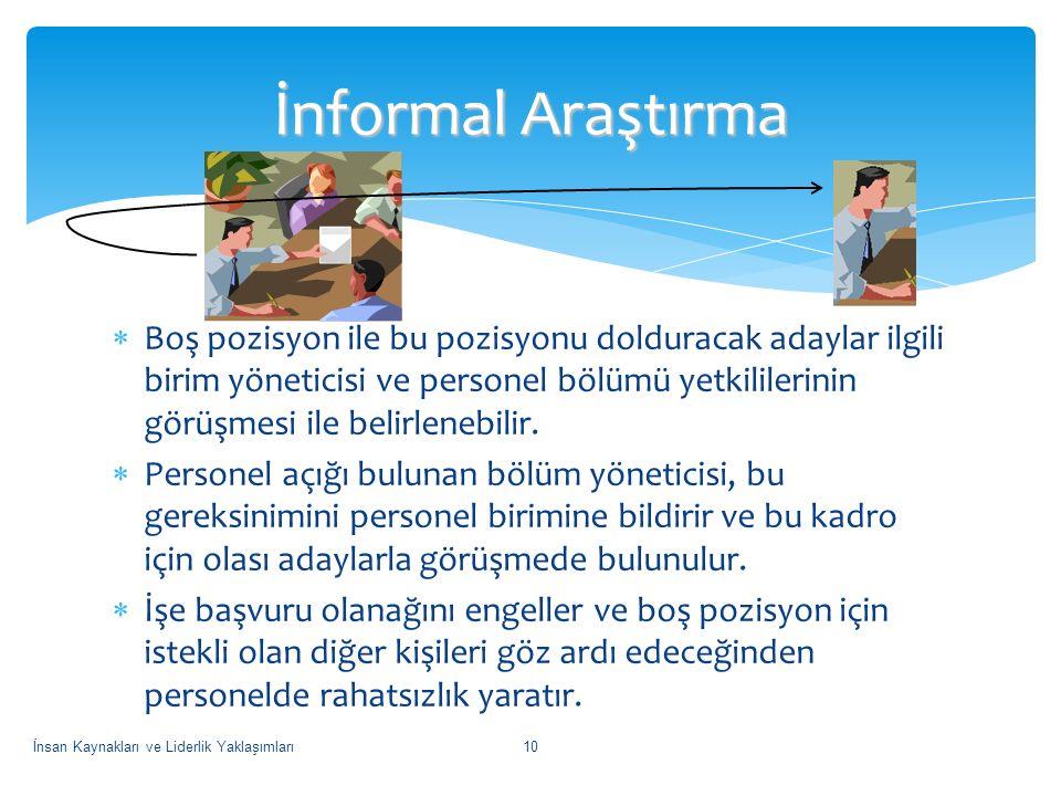 İnformal Araştırma