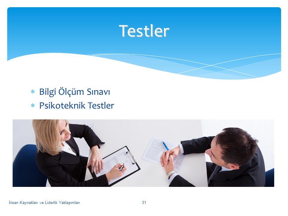 Testler Bilgi Ölçüm Sınavı Psikoteknik Testler