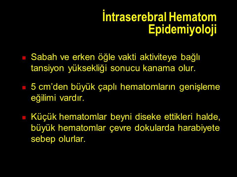 İntraserebral Hematom Epidemiyoloji