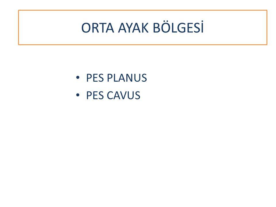 ORTA AYAK BÖLGESİ PES PLANUS PES CAVUS