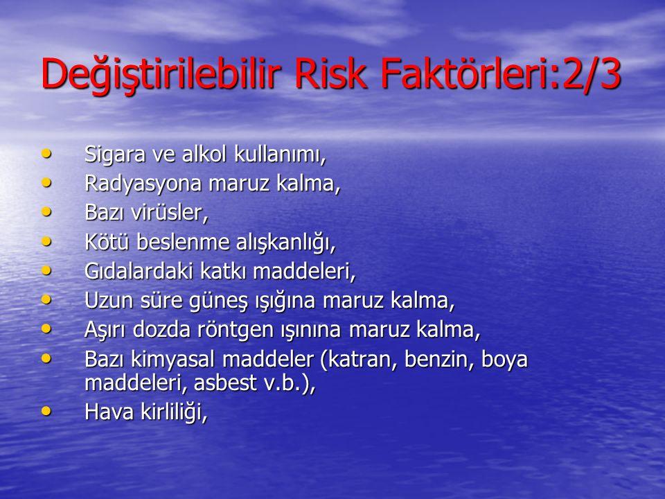 Değiştirilebilir Risk Faktörleri:2/3