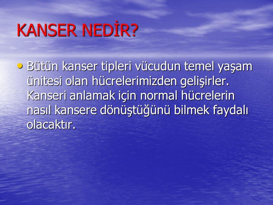 KANSER NEDİR