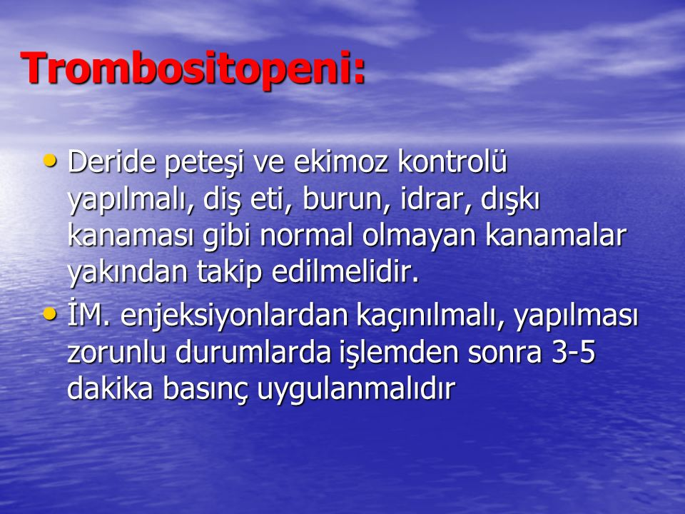 Trombositopeni: