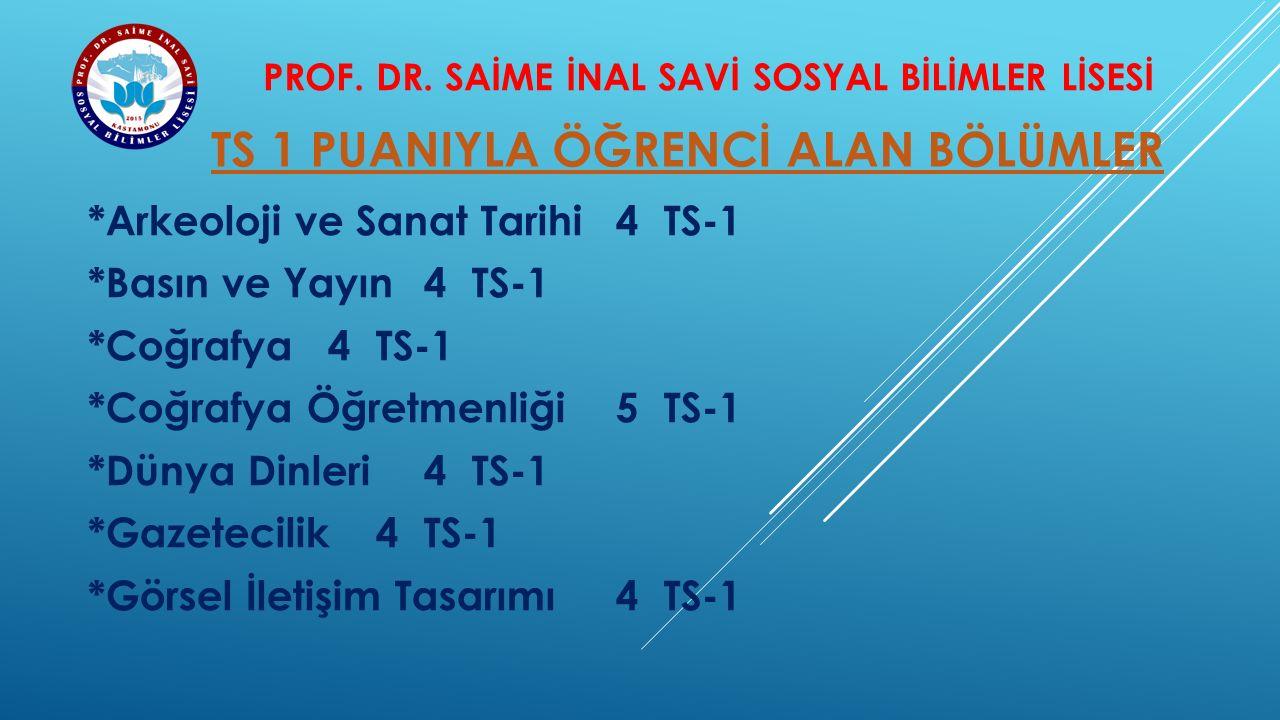 PROF. DR. SAİME İNAL SAVİ SOSYAL BİLİMLER LİSESİ