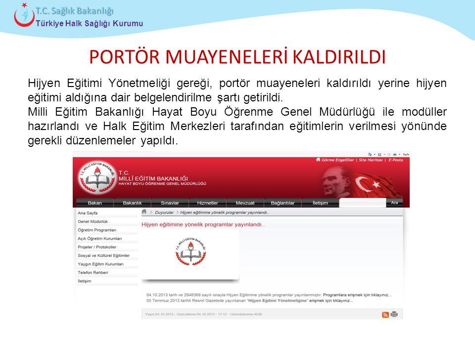 PORTÖR MUAYENELERİ KALDIRILDI